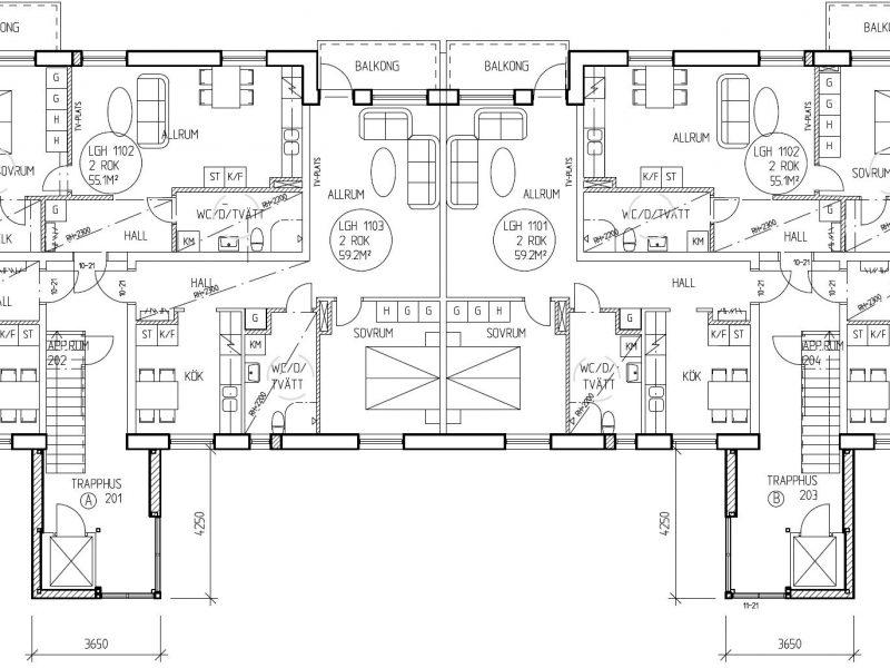 Planskiss våningsplan 2 /